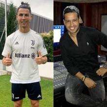 Martín Elías y Cristiano Ronaldo