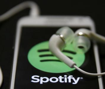 Teléfono celular con la Spotify