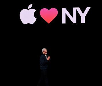 Tim Cook en el evento de Apple