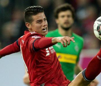 James Rodríguez, jugador del Bayern Múnich