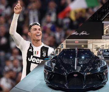 Cristiano Ronaldo y su nuevo Bugatti