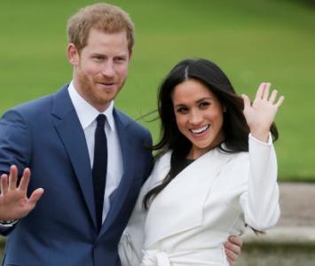 príncipe Enrique y su esposa, Meghan Markle
