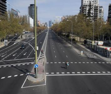 Las calles de Madrid lucen desocupadas