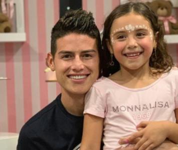 James Rodríguez y su hija
