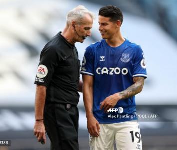 James Rodríguez en el Everton