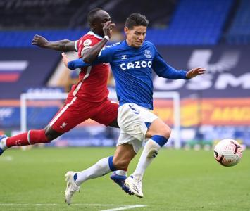 James Rodríguez, Everton vs Liverpool