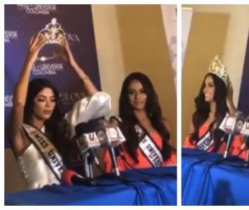 Laura Olascuaga pone la corona a Jenifer Pulgarín, Miss Norte de Santander