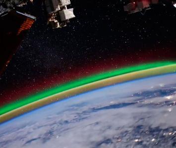 Aurora boreal desde la Estación Espacial Internacional