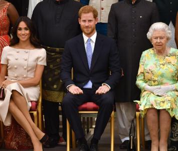 Meghan Markle, Harry y la reina Isabel II