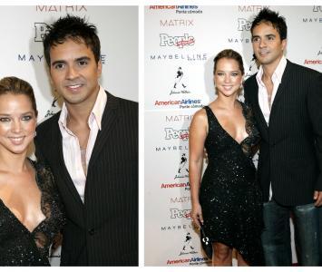 Adamari López y Luis Fonsi cuando estaban juntos en 2004
