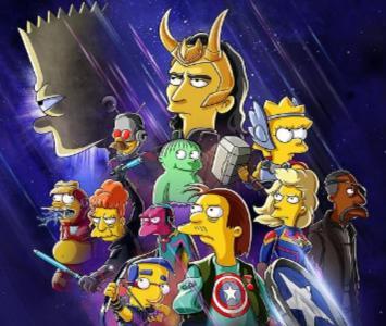 Los Simpson y Marvel se fusionan en un corto sobre 'Loki'