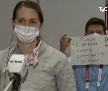 Juegos Olímpicos Tokio 2020: propuesta de matrimonio a la esgrimista Belén Pérez
