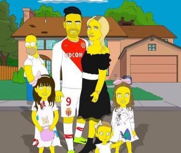 Falcao publicó una imagen como personaje de Los Simpson