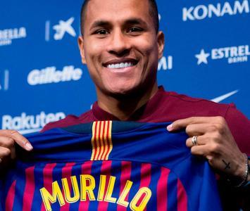 Jeison Murillo con la camiseta del Barcelona