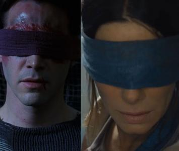 Neo y Sandra Bullock en 'Bird Box'