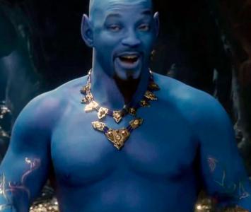 Will Smith es el genio de la lampara en la nueva película de Aladdin