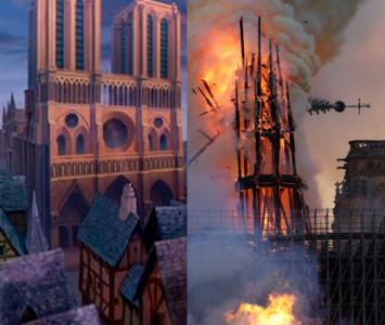 Catedral de Notre Dame de la película de Disney