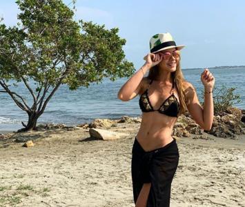 La actriz de 'La ley del Corazón 2' compartió algunas imágenes del inicio de vacaciones de Semana Santa.
