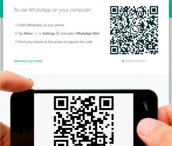 WhatsApp web y scaner de código QR