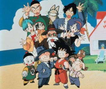 Los personajes de Dragon Ball reunidos en la isla del maestro Roshi