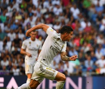 James Rodríguez con el Real Madrid
