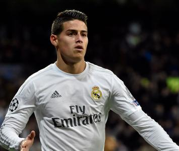 James Rodríguez con el Real Madrid