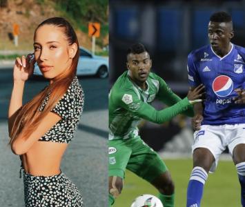 Luisa Fernanda W y partido Nacional vs Millonarios