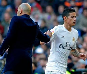 Zidane y James Rodríguez, cuando jugaba con el Real Madrid