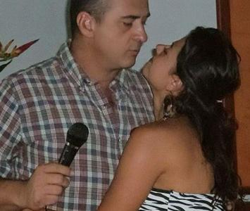 Jota Mario Valencia y Gineth Fuentes