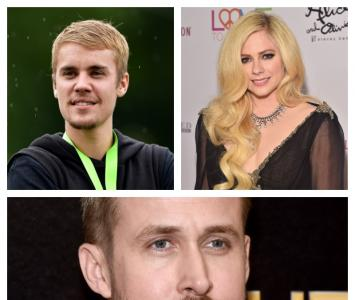 Justin Bieber, Avril Lavigne y Ryan Gosling