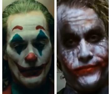 Joker, interpretado por Joaquin Phoenix y Heath Ledger