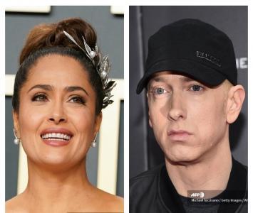 Salma Hayek y Eminem