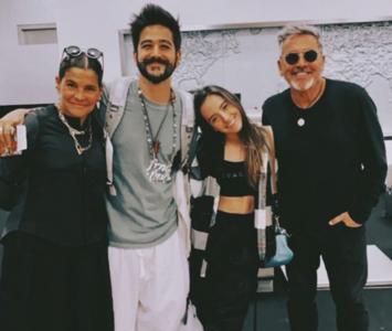 Camilo Echeverry y sus suegros