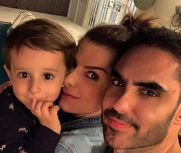 Lincoln Palomeque, Carolina Cruz y su hijo