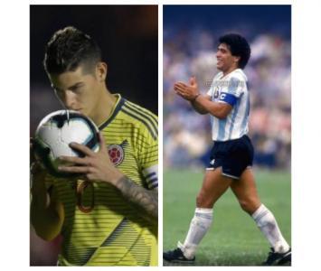Así recordó James a Maradona