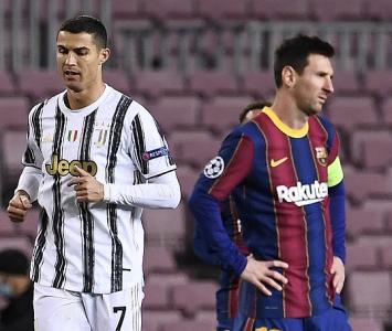 Cristiano Ronaldo y Messi cuadrada