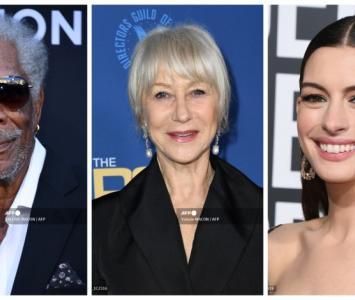 Morgan Freeman, Helen Mirren y Anne Hathaway
