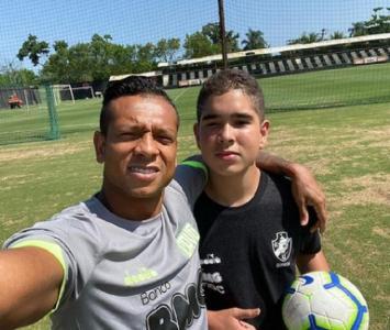 Fredy Guarín y su hijo Daniel