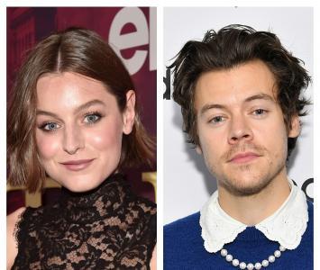 Emma Corrin y Harry Styles