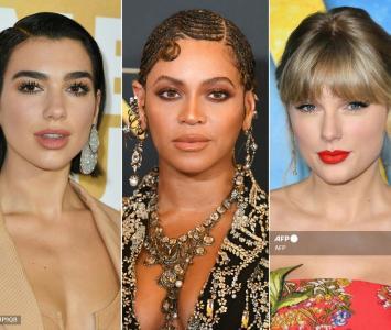 Dua Lipa, Beyoncé y Taylor Swift