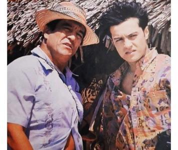 Julián Román junto a su padre, Edgardo Román