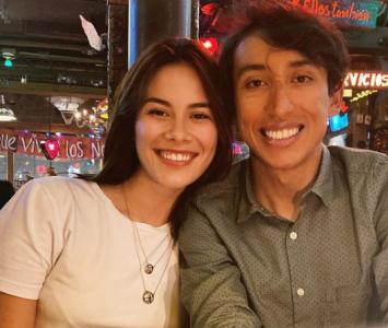 Egan Bernal y su novia Maria Fernanda