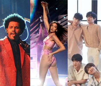 BTS, Dua Lipa, The Weeknd