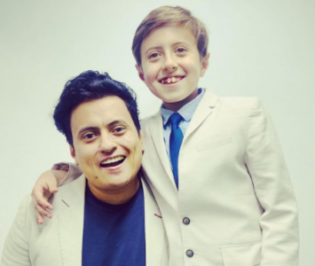 Freddy Beltrán y Mathias, su hijo