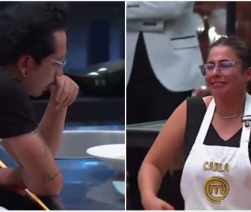 Frank Martínez y Carla Giraldo en MasterChef